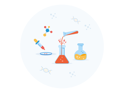 Lab illustration for an article chemist glass research science laboratory data icon tube illustration test lab