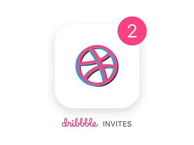 2 Dribbble Invites Giveaway illustration ios two invites invite invitation giveaway two dribbble invite dribbble invites