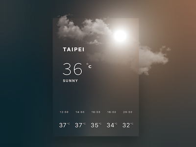 Weather card-sunny