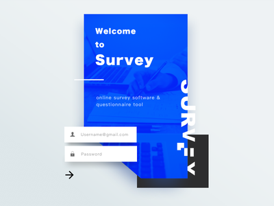 Welcome & login page experiment layout design layout experiment survey login