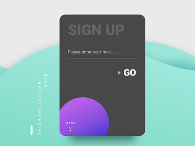 Sign up card mail shadow wave gradient color taichung taiwan card signup