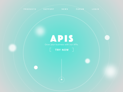 Landing page product website