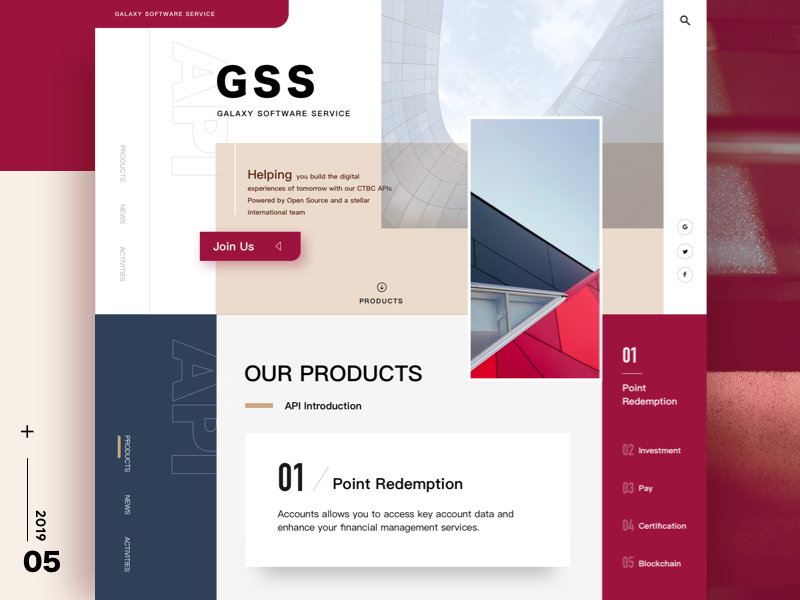 New Project Design Concept modern landing page web grid concept layout design ui