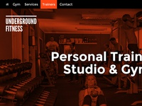 Underground Fitness Home Page Concept