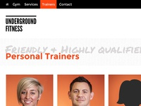 Underground Fitness Trainers Page