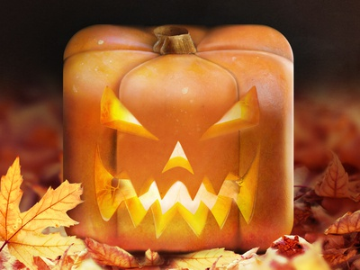 Jack O' Lantern  3d icon ios pumpkin halloween photoshop
