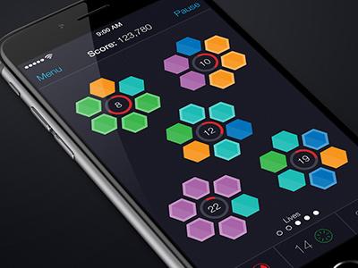 Hexagonal App - Dark Mode game ios