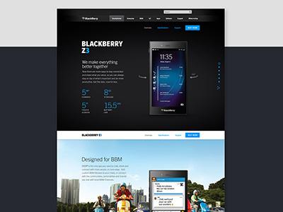 BlackBerry Desktop Experience desktop website
