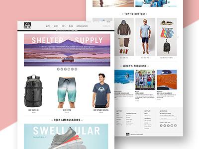 Reef desktop website