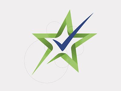 Check + Star identity logo branding