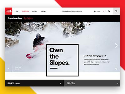 The North Face desktop website