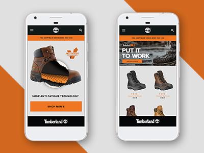 Timberland Mobile responsive mobile