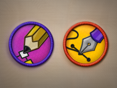 Merit Badge Icons PSD psd icons merit badges template photoshop illustrator