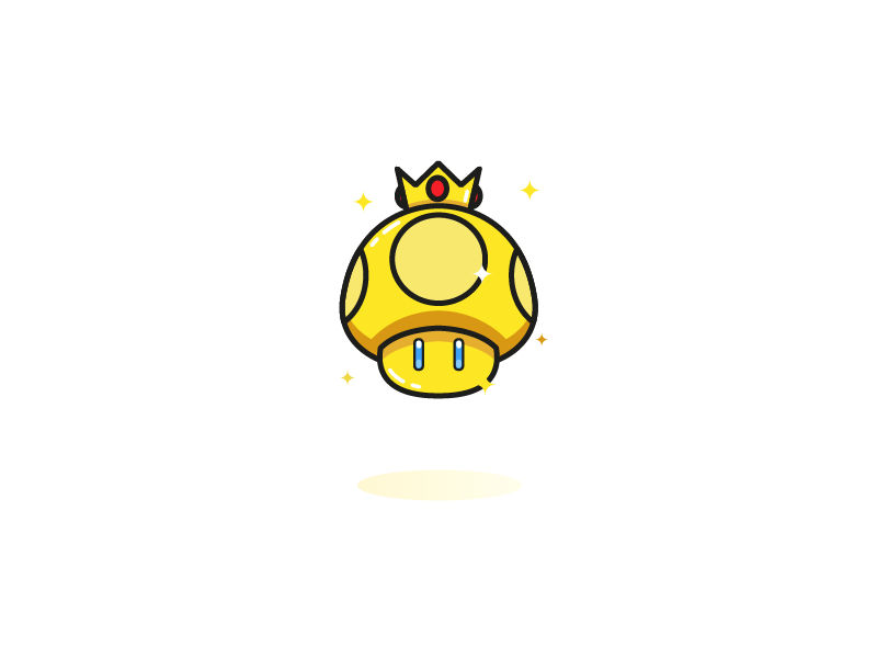 Golden Mushroom From Super Mario By Superchouette On Dribbble