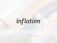 Inflatom Logo design