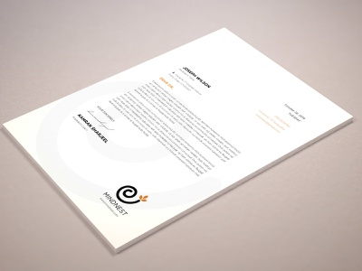 Meditation Letter Head graphic design mindnest illustrator letterhead mindfullness meditation
