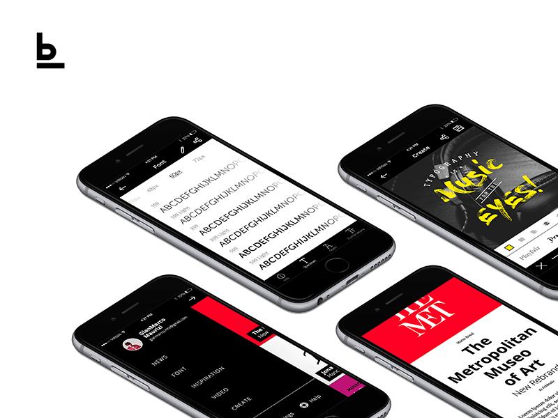 Baseline - Typography App invision prototype minimal ux ui news app typhography type baseline