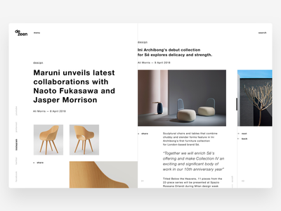 News Page editorial news restyle product minimal design architecture web design ui ux