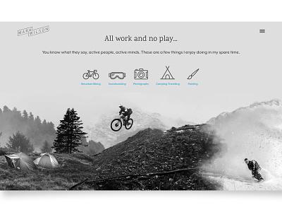 All Work And No Play icons web personal portfolio grey ui ux digital design website