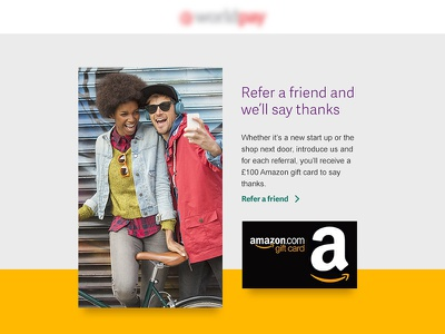 Refer a friend concept email modern clean simple yellow design digital bold color ui email
