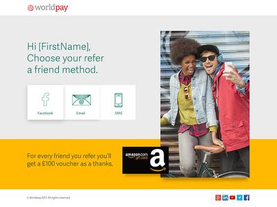 Refer a friend concept emailLanding Page website web design journey email user ux ui digital design web landing page