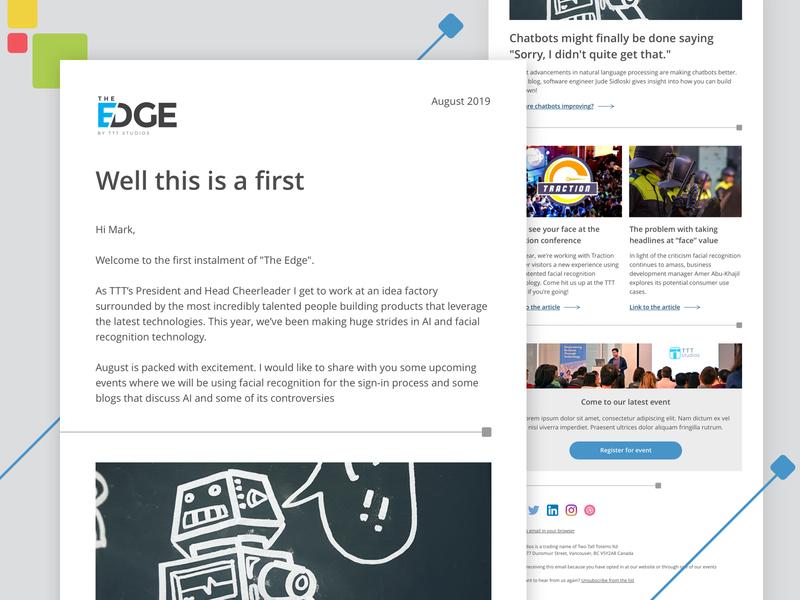 The Edge newsletter and logo layout email ux marketing email marketing branding minimal logo digital ui design