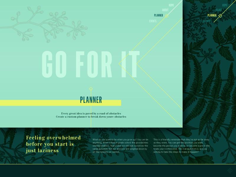 Botanically Themed Site website idea mood board interactive ui ux pattern plants