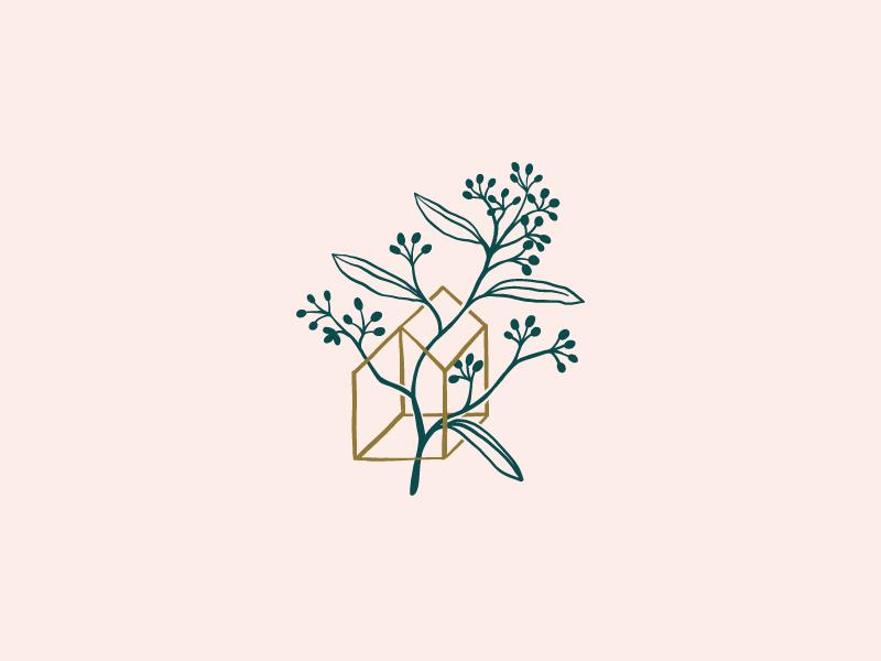 Growth geometry organic silhouette minimal home illustration plant botany