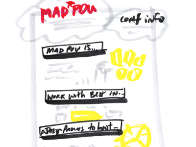 Sketch of poster layout madpow sketch poster