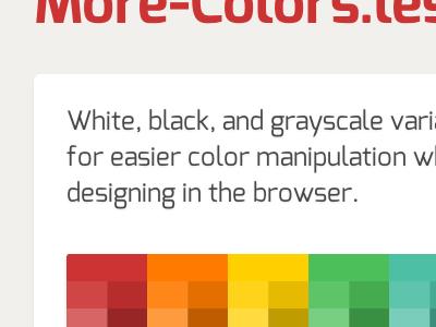 More-Colors.Less more-colors lesscss code github