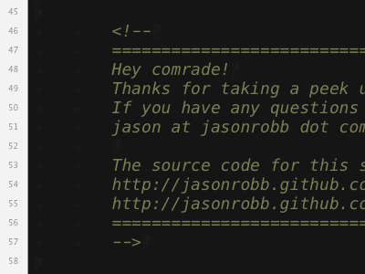 Under the hood jr-www html comment markup opensource