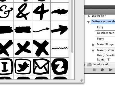 Custom shapes jr-www vector photoshop process custom shapes sketch handwritten action