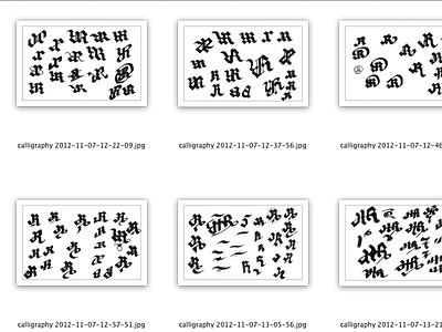 Scraps calligraphy jr-www type lettering scraps