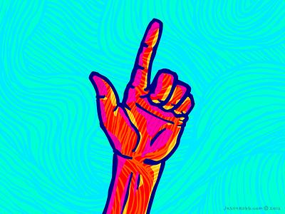 Handy hand illustration bright