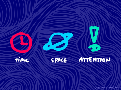 Time, space, and attention time space attention illustration saturation bright