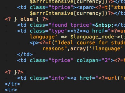 Coda seestyles, colorful syntax