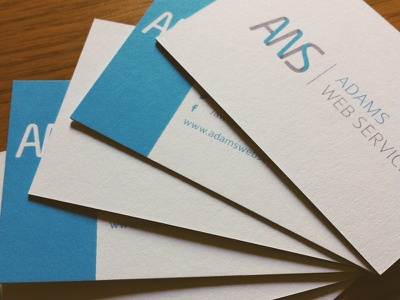 AWS Business Cards branding stationery duplex heavy print moo business card uncoated