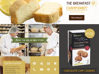 Bakery Website Moodboard bakery web design website moodboard board colours rustic organic