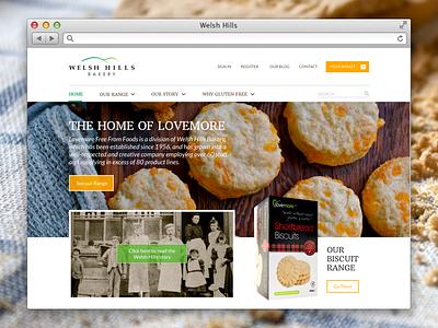 Welsh Hills Bakery web website webdesign haum kyanos cardiff wales design bakery food