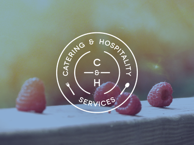 Catering & Hospitality brand logo cardiff haum wales branding food fork spoon circle
