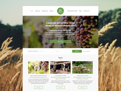 Food Adventure - The page. On the Web. website food haum wales cardiff web design webdesign