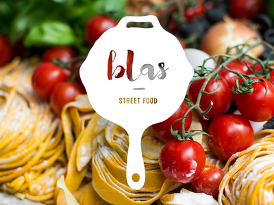 Blas WIP hand lettering street identity logo brand branding food