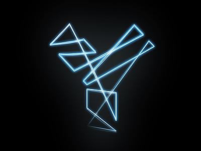 Logo lightpainting logo light neon dark music