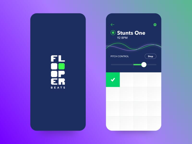 Floooper App UI icon vector design app ux logo ui