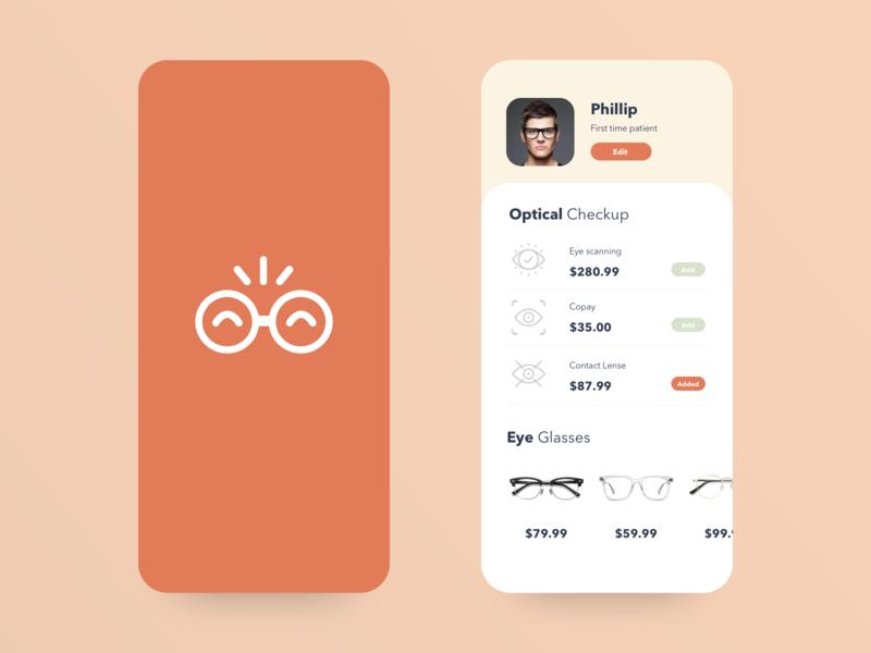 Opticals App UI dribbble design app icon design uiux ui
