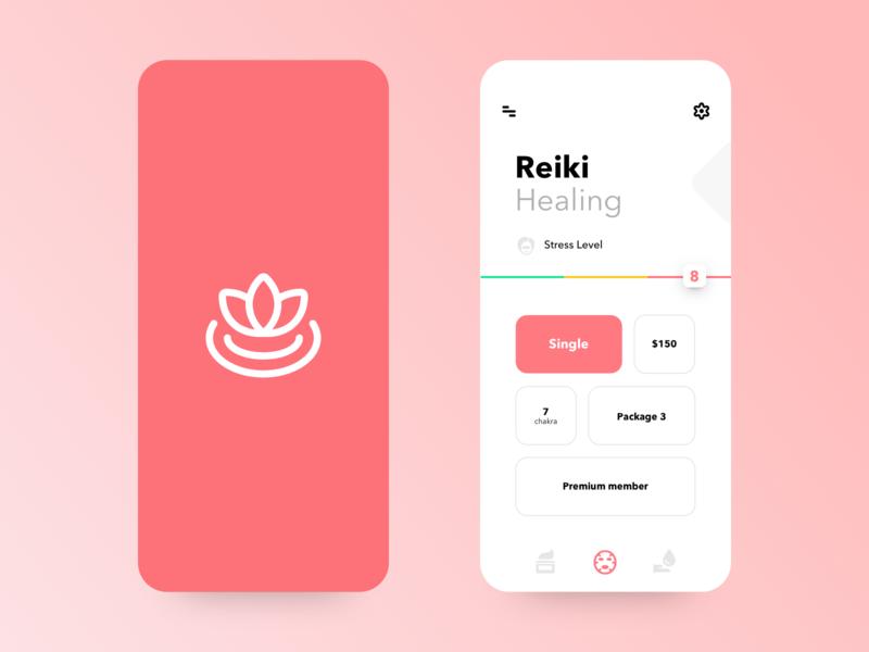 Reiki Booking App oil massage space reiki ui design uiux ui