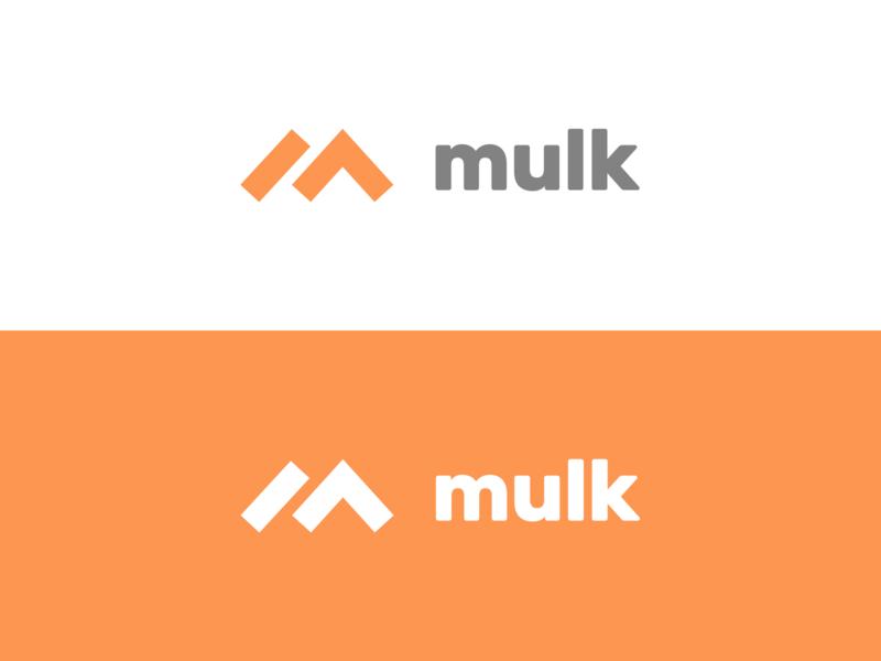 Mulk Logo orange mulk branding
