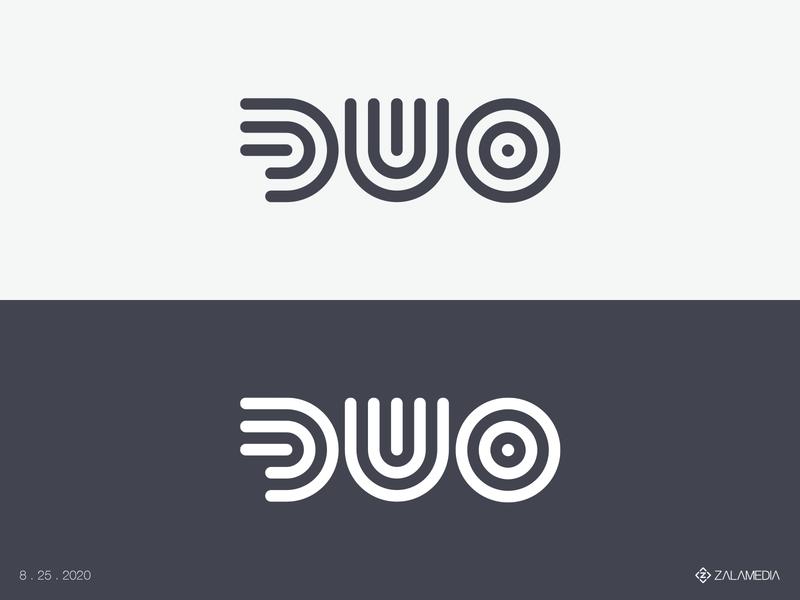 DUO Logo icon vector simple outlines duo logo stroke