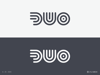 DUO Logo icon vector simple outlines duo logo stroke
