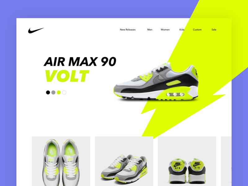 Nike Air Max 90 Volt shoe lightning nike ux ui shoes